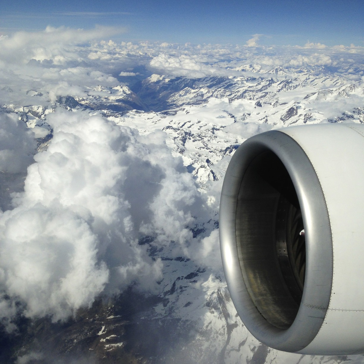 Flight over Alps