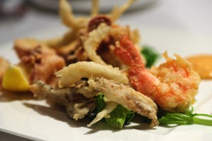 Mixed fried seafood