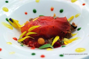 Arzak's red space egg