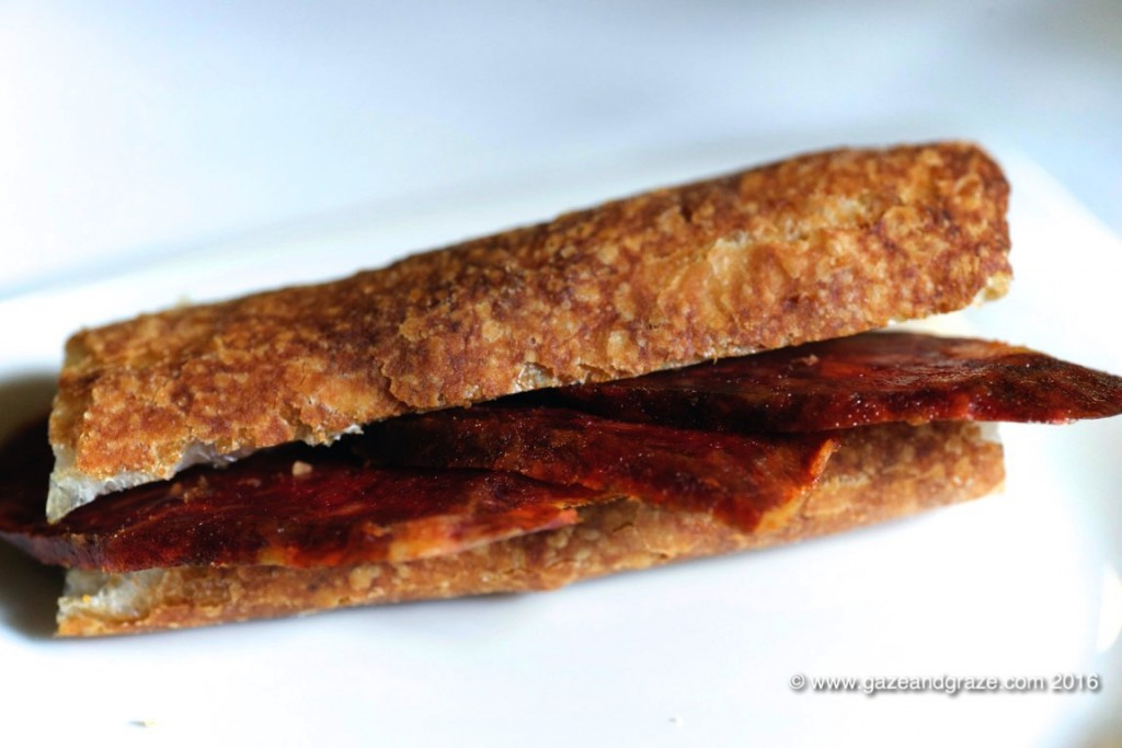 Starting with chorizo in bread - nothing new but just right